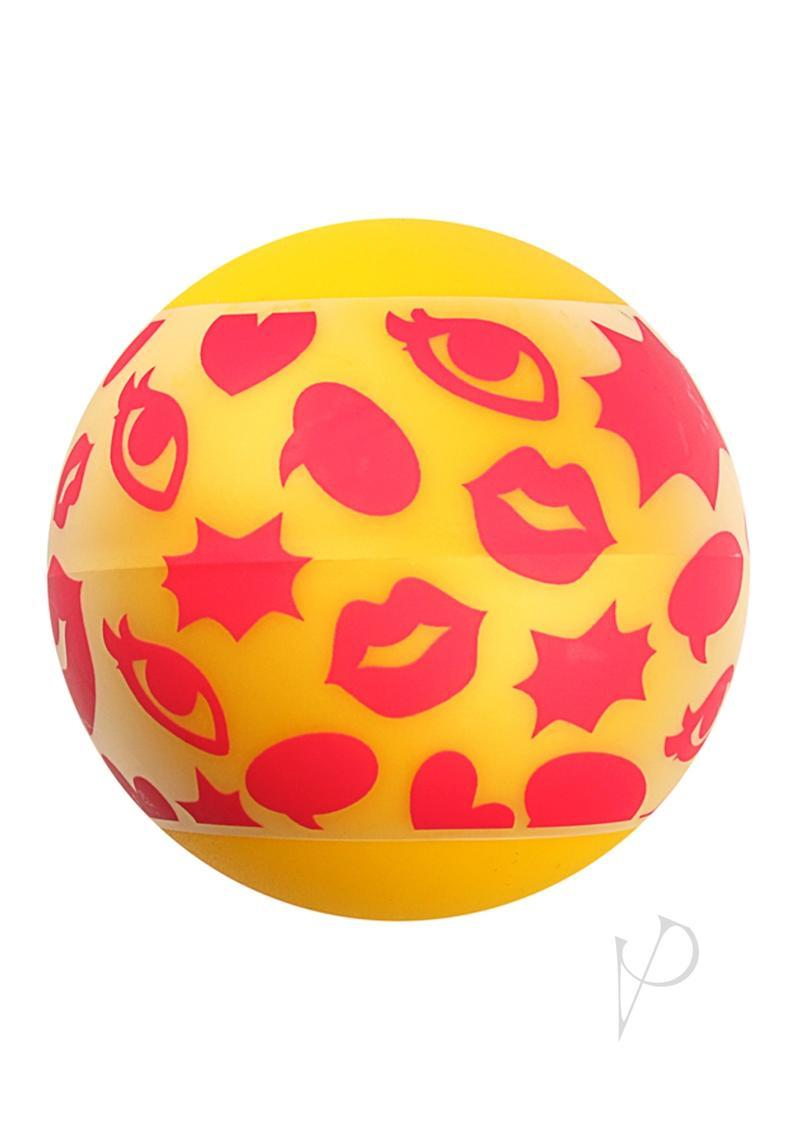 Linx Pop Stroker Ball Masturbator - Yellow